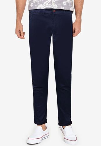 !Solid blue Classic Chino Pants F4F1EAAC3C276EGS_1