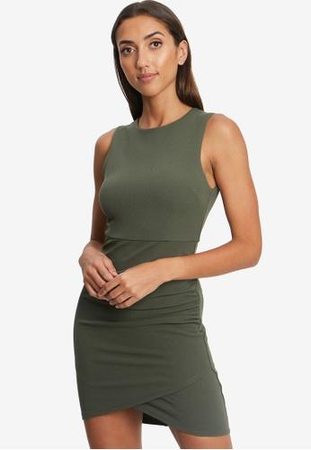 REUX green Keema Dress A6D43AAD400483GS_1