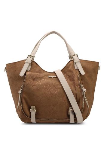 Desigual brown Caliope Rotterdam Shoulder Bag AFC11AC9944BADGS_1