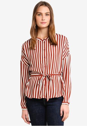 Vero Moda brown Zilia Long Sleeve Shirt E4AA9AAEA13F4BGS_1