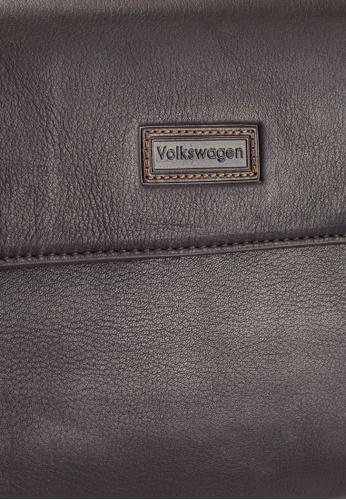 Volkswagen brown Volkswagen Genuine Leather Clutch Bag 6519AAC3C4E6A1GS_1