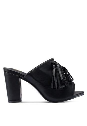 Berrybenka 黑色 流蘇高跟鞋 EBA63SH1197E7AGS_1