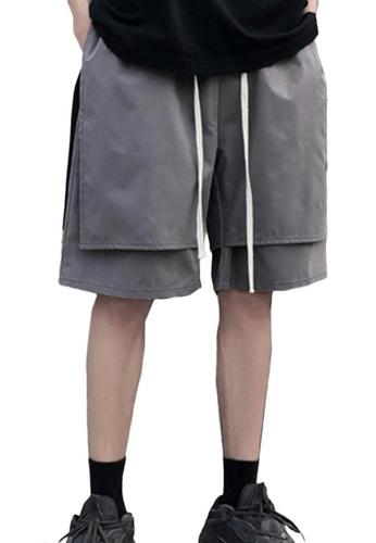 Sunnydaysweety grey Double Layered Wide Leg Drawstring Shorts A21032316GY 5B908AA5177CBDGS_1
