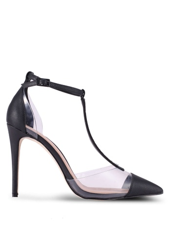 Call It Spring 黑色 Galocia Pointed Toe T-Strap Heels 8B0B3SHDE6ED59GS_1