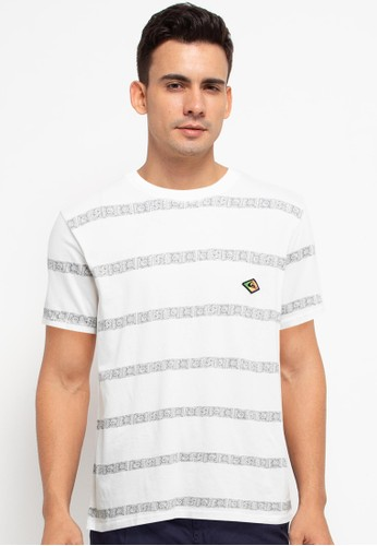 Quiksilver white Heritage Short Sleeve Tee E1715AABA55F69GS_1