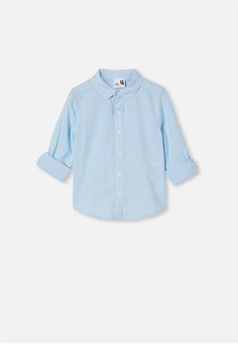 Cotton On Kids blue Harper Long Sleeve Shirt  ADECCKA29DCDD4GS_1