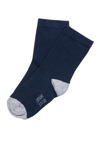 Du Pareil Au Même (DPAM) navy Navy Contrast Socks 0EAEAKAA69813AGS_1