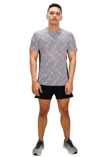 Trijee black and white Trijee Men Short Sleeve Tee Halu Series 3 White 4439EAA81FA5ECGS_1