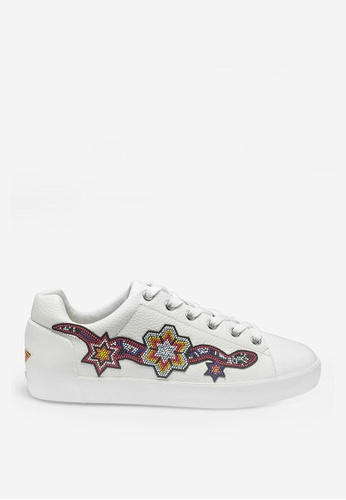 ASH white Namaste - White Embroidered Patch Sneakers CCEDBSH8391AB1GS_1