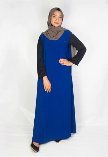 Zaryluq blue Inner Dress in Azure Blue 45126AAFDF7A9EGS_1