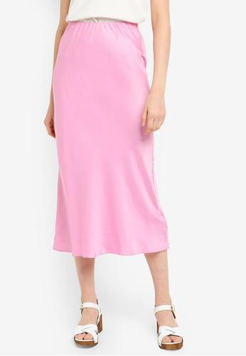 2707f7c919 Buy Miss Selfridge Pink Satin Bias Slip Skirt Online on ZALORA Singapore