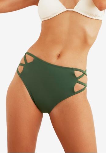 Trendyol green High Waist Bikini Bottom 3386CUSF244F88GS_1