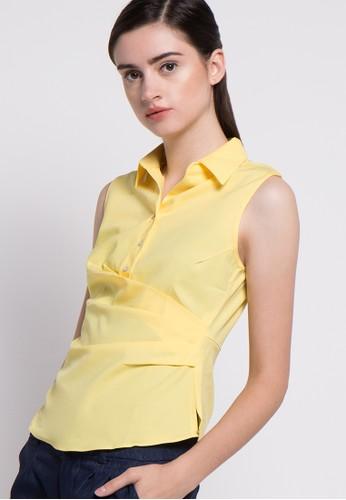 Raspberry yellow Lili Singlet Blouse RA572AA16ZPRID_1