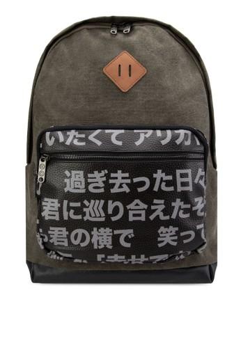 日本esprit官網漢字口袋後背包, 包, 後揹包