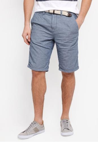 ESPRIT blue Woven Regular Shorts 3D641AA50D7160GS_1