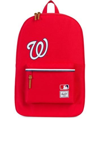 Herschel red Heritage Major League Baseball Backpack HE958AC0KA36PH_1