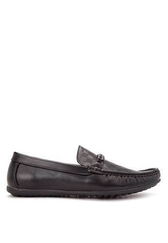 Wade black Smart Casual Loafers WA436SH09CNMPH_1