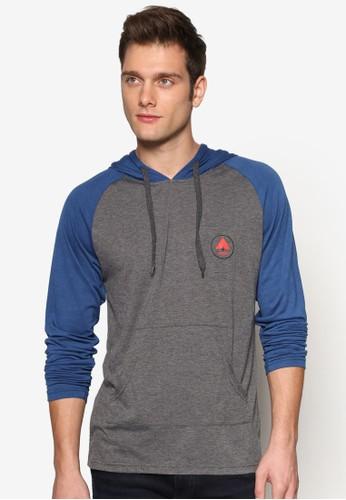 Extraterrestrial 標誌印花抽繩連帽TEE,esprit 品牌 服飾, 長袖T恤