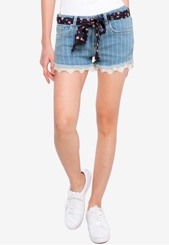 SUPERDRY blue Lace Hot Shorts FDEE9AAE798DA4GS_1