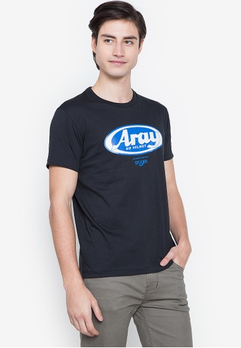 Spoofs black Aray T-Shirt 71014AA9D56047GS_1