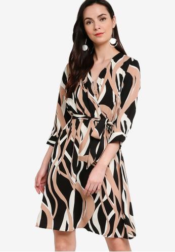 ZALORA WORK multi Wrap Dress With Self-Tie 046E5AAA9BF0F0GS_1
