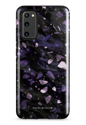 Polar Polar purple Lilac Terrazzo Gem Dual-Layer Tough Case Glossy For Samsung Galaxy S20 5G 2C028AC1C46ADBGS_1