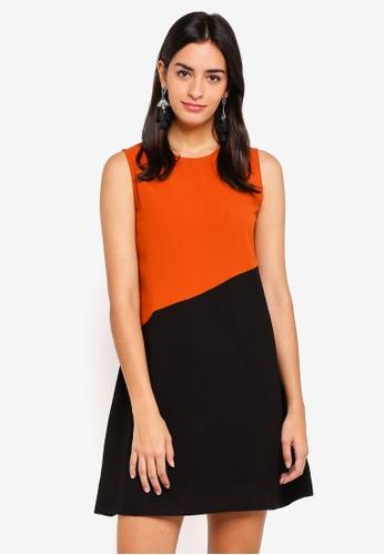 ZALORA multi Colorblock Flare Dress 38B44AA81CED69GS_1