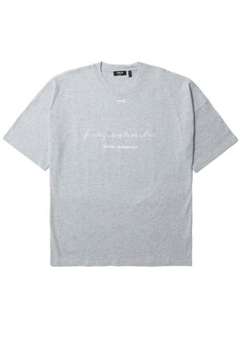 Fivecm grey Logo script tee AC069AA8868016GS_1