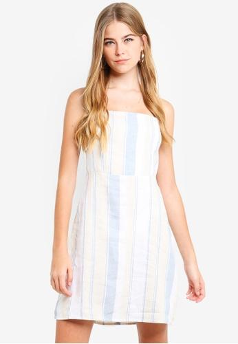 Supre blue Strapless Mini Dress D47EBAA49349A1GS_1