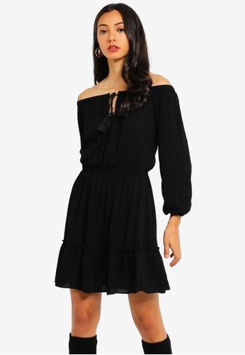 906df73e0efb Buy MISSGUIDED Bardot Tassel Dress | ZALORA HK