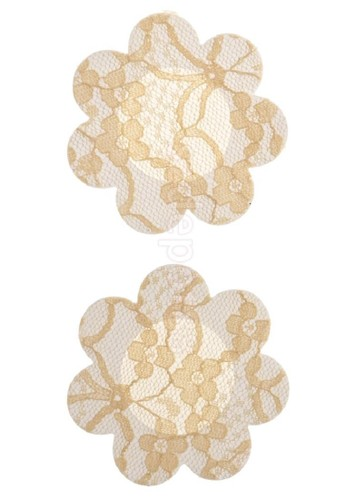 LAVABRA Intimates beige Invisible Bra - Lace Print Nipple Covers  5 pair Set LA688US66WOVID_1