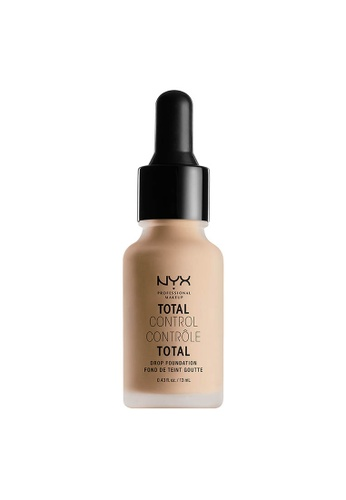 NYX Professional Makeup beige NYX Professional Makeup Total Control Drop Foundation - NATURAL 4E681BEAEF3534GS_1