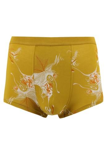 LAVABRA Intimates yellow Cooling Underwear - Super Comfy Bamboo Fiber Boxer Brief LA387US54PSBID_1