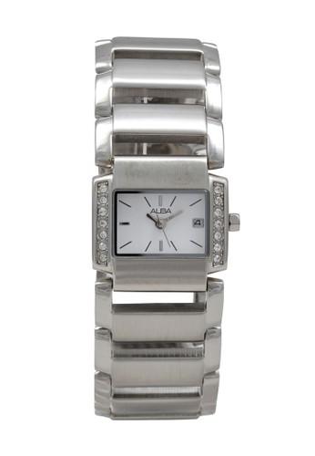 Alba silver ALBA Jam Tangan Wanita - Silver White - Stainless Steel - AXT473 D3D2CACCDF2F2EGS_1