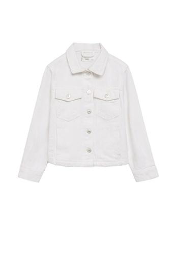 MANGO KIDS white Pocketed Denim Jacket 414C8KA4C2D895GS_1