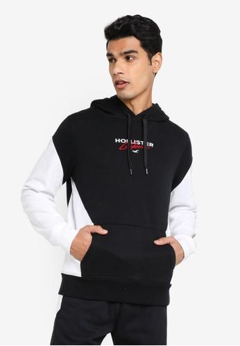 Hollister black Moto Chase Sweatshirt 1CA95AA8EB4AE0GS_1