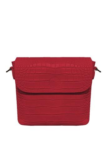 Twenty Eight Shoes red VANSA Retro Crocodile Leather Crossbody Bag VBW-Cb9930 88871ACBF36218GS_1
