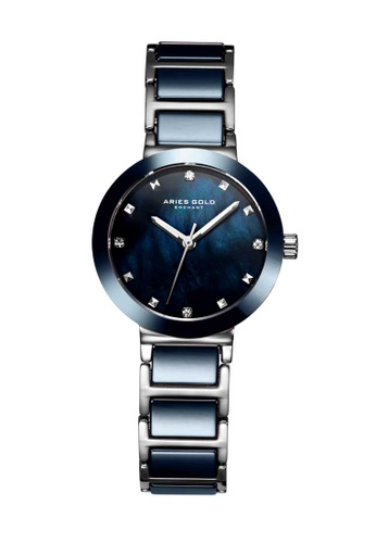 Aries Gold blue Aries Gold Enchant Persia Blue and Silver Watch 6603CAC6EDC018GS_1