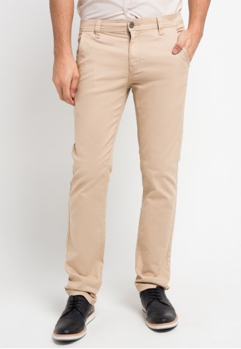 Contempo brown Chinos Long Pants CO339AA0VD4HID_1