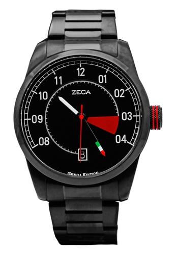 ZECA black and red Zeca Watches Men Fashion Stainless Steel Analog - 2005M Full Black ZE260AC56SLZSG_1