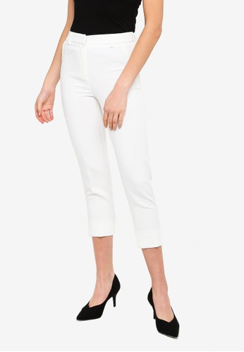 FORCAST white Raelyn Tapered Trousers 0BAB1AA1B90A5BGS_1