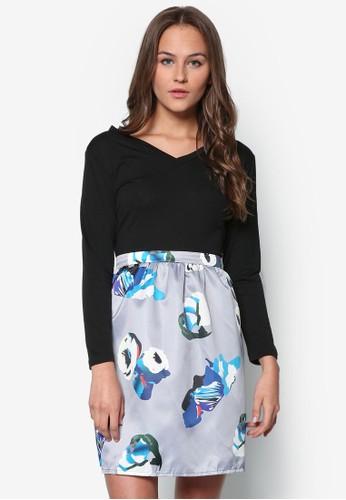 Suzanne 長袖上衣印花短裙套裝esprit台灣官網, 服飾, 服飾