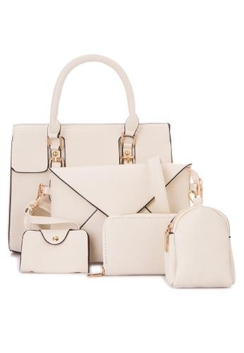 Treasure by B & D white 5 in 1 Fashion Bag Set TR022AC0K5KNPH_1