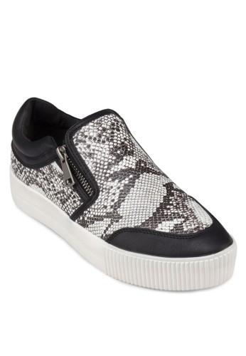 PU 蛇紋zalora 包包 ptt厚底懶人鞋, 女鞋, 鞋