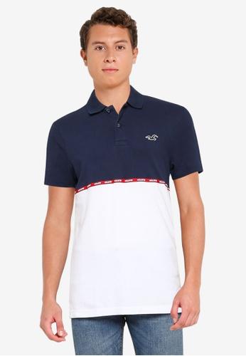Hollister navy Logo Tape Polo Shirt B3E49AA411D229GS_1