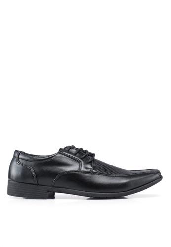 Bata 黑色 紋理皮鞋 D5006SH8460596GS_1