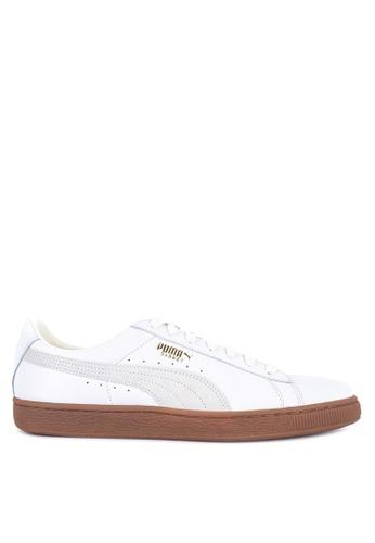 Puma white Basket Classic Gum Deluxe Sneakers 60E93SH15C2363GS_1