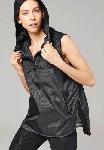 印花裹飾連帽無袖上衣, esprit台灣網頁服飾, 外套