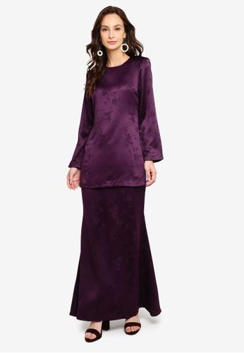 Kurung Moden Fiona from Butik Sireh Pinang in Purple