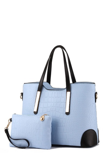 TCWK blue TCWK Set of 2 pcs Light Blue Ladies Handbag TC258AC0RRMDMY_1